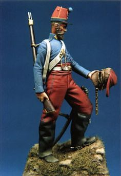 Chasseur d'Afrique, Franco-Pussian War, 1870 - 54mm Figure by Bill Horan