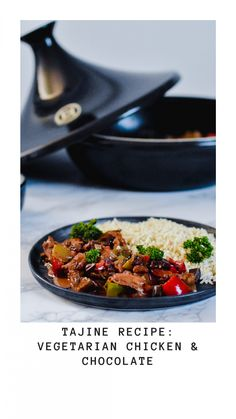 I've created a recipe for in a tajine with vegetarian chicken and chocolate. This tajine recipe with vegetarian chicken and chocolate is one of my favorites Vegetarian Chicken, Vegetarian Recipes Dinner, Dinner Recipes, Tajin Recipes, Healthy Chocolate Mousse, New Recipes, Healthy Recipes, Create A Recipe, Foodie Travel