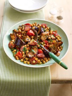 This Moroccan vegetable recipe is a simple, filling dish that has very little hands on time.