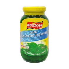 Buenas Kaong Green Candied Fruit in Syrup (Green) 340g