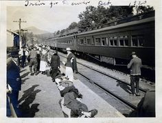 Train taking WW1 vets to Denver for medical treatment.  Mountain air was thought to help cure lung problems, TB etc.  Mustard gas from WW1 caused many lung problems.