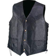 Diamond Plate™ Hand-Sewn Men's Pebble Grain Genuine Leather Vest-3XL #DiamondPlate