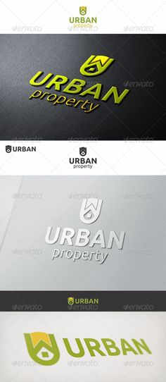 Urban Property U  Logo Design Template Vector #logotype Download it here:  http://graphicriver.net/item/urban-property-u-logo/6952497?s_rank=575?ref=nexion