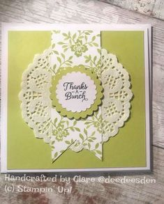 Clean and Simple card using the Stampin' Up! Fresh Florals paper card.