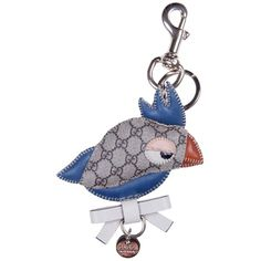 Gucci Blue/Beige Chicken Keyring ($135) ❤ liked on Polyvore