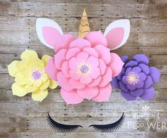 The complete paper flower tutorial DIY template for a 21 inch and 15 inch size flower AND 2 size stamen/centers to complete the flower as you see it. Paper flowers are great for any occasion, big or small. This flower makes a beautiful set that can be a centerpiece for your party