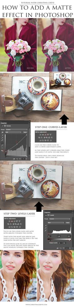 How to add a Matte Effect in Photoshop. By Christina Greve. http://christinagreve.com/add-matte-effect-photoshop/