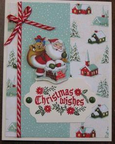 Santa Home for Christmas card