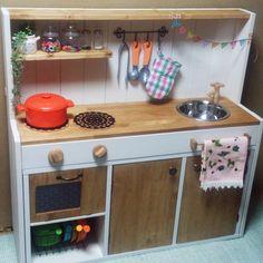 acoさんの、セリア,カラーボックス,ままごとキッチン,DIY,のお部屋写真