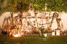 decoración de boda con fotos familiares