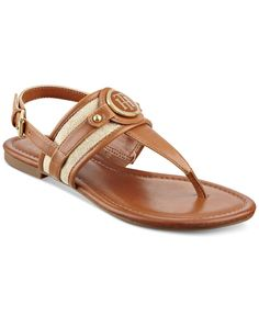 Tommy Hilfiger Shane Logo T-Strap Slingback Sandals Sandalo Con Cinghietta  Caviglia 59369071f18