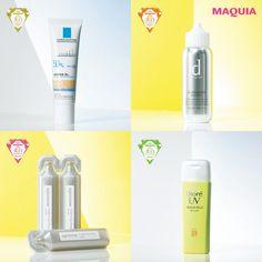 「MAQUIA」5月号に掲載中の『美白・UVグランプリ2016』から、「低刺激UV部門」「ボディ&ヘアUV部門」「リーズナブルUV部門」「飲む美白部門」の4部門のトップ3をそれぞれ紹介します♪ 低刺激UV部門 デリ...