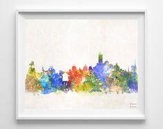 Cordoba Skyline Watercolor Print