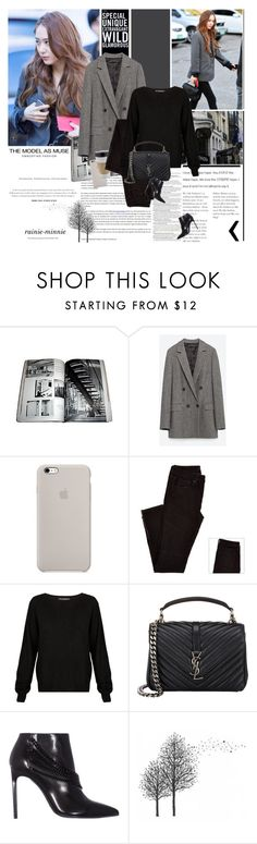 """""""Krystal"""" by rainie-minnie ❤ liked on Polyvore featuring Krystal, Zara, OUTRAGE, 360 Sweater, Yves Saint Laurent and Pennyblack"""