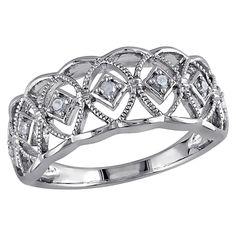 Allura 1/10 CT. T.W. Diamond Ring in Sterling Silver (I3) (6), Women's, White