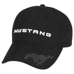 Our unmistakable pony takes the lead on this focused cotton cap which also offers a precurved visor and an adjustable Velcro® closure. Black.