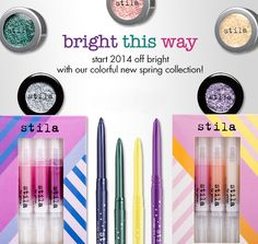 Stila  Bright This Way Makeup Collection for Spring 2014 http://www.makeup4all.com/stila-makeup-collection-for-spring-2014/