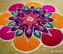 Flower rangoli designs for rangoli makers
