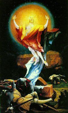 Isenheim Altarpiece: The Resurrection 1506-1515 Matthias Grünewald