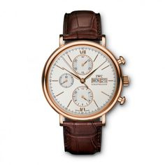 See the IWC Chronograph watch - Movement : Self-winding mechanical - Case : Red gold Swiss Luxury Watches, Luxury Watches For Men, Iwc Chronograph, Or Rouge, Iwc Watches, Latest Watches, Skeleton Watches, Color Plata, Mens Watches Leather