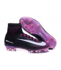 competitive price 5b6e2 1aa67 Acheter Chaussure Nike Mercurial Superfly 5 FG pour Hommes Noir Violet  Blanc pas cher en ligne