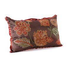 Red & Brown Floral Stitch Pillow at Kirkland's