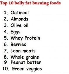 Belly Fat burning foods! fitness flat-abs excercise
