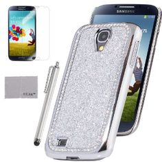 Amazon.com: Pandamimi ULAK Silver Bling Glitter Diamond Case Cover For Samsung Galaxy S4 IV i9500 with Screen Protector and Stylus(cleaning cloth with ULAK Logo): Cell Phones & Accessories