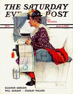 1938 ... 'First Airplane Ride' - Norman Rockwell by x-ray delta one