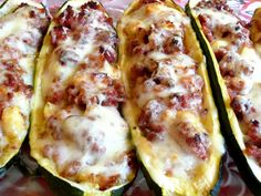 Stuffed zucchini boats. www.knsales.com