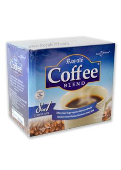 Royale Coffee Blend 8 in 1 is a delicious and healthy coffee drink that contains 5 Herbal Supplements (Ginseng, Ganoderma, Spirulina, Grapeseed, Agaricus Mushroom). Visit our site for more information about Royale Coffee Blend 8 in 1.