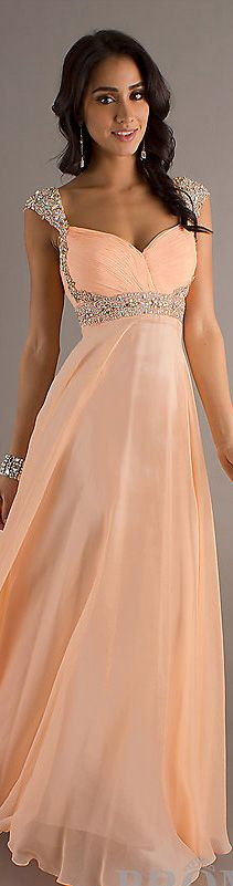 Fashion long dress #peach <3 http://desiactressespics.blogspot.com/?view=mosaic
