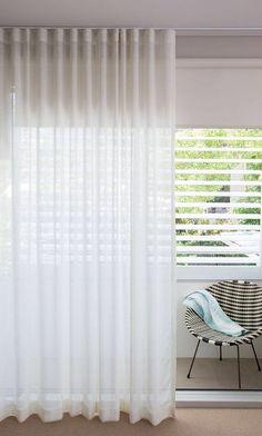 'Leh Almost White' Custom Sheer Linen Curtains