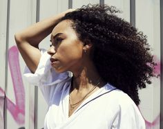 "Actress Logan Browning Talks Dear White People and More: Off-screen, there are similarities between the star and her alter ego. Logan openly talks about her struggle to find her place—""I'm constantly searching for my identity in groups of people""—there's also the fact that she isn't shy about publicly expressing her opinions. --  Elizabeth & James Necklace and Long Earring Paige Novack for Tibi  