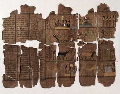 Papyrus Book of the Dead fragment circa 320 BCE Ptolemaic Period Egypt; Africa
