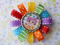 Lalaloopsy Rainbow Bottlecap Hair bow