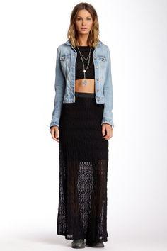 Lace Maxi Skirt by Bobeau on @HauteLook