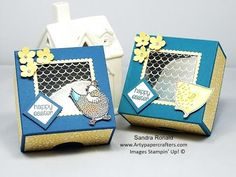 Handmade BOX with FABULOUS FOIL - SandraR Stampin' Up! Demonstrator Independent - YouTube