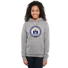 Coast Guard Academy Bears Women's Military Crest Pullover Hoodie - Ash - $39.99