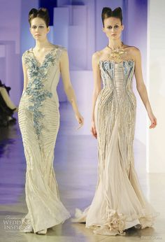 Basil Soda Couture Spring 2011 runway  love the idea of that blue color fading into gold!