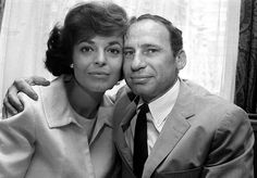 """Anne Bancroft and Mel Brooks   She won: Best Actress in 1963 for playing Helen Keller's teacher in """"The Miracle Worker."""" She won a Tony Award for Best Actress for the same role in 1959."""