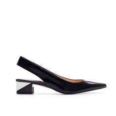 Image 1 of POINTED COMBINATION HEEL SLING BACK from Zara