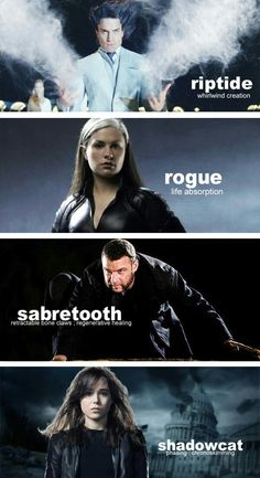 Riptide, Rogue, Sabertooth, Shadowcat || X-men