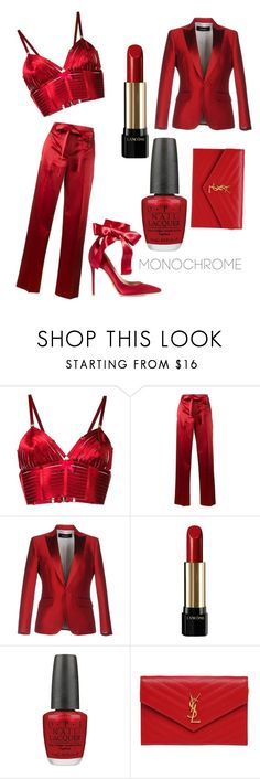 """""""Love is N the Air💋"""" by essencecl ❤ liked on Polyvore featuring Bordelle, Helmut Lang, Dsquared2, Lancôme, OPI, Yves Saint Laurent and Gianvito Rossi"""