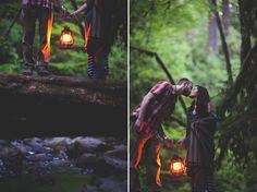 GAH! I love this idea... wait unit dusk, light a lantern and grab a blanket!