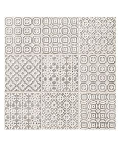 Batik Patchwork Grey tile - Topps Tiles per loveliest tiles I have bought, look fab with cream kitchen! Patterned Kitchen Tiles, Kitchen Wall Tiles, Grey Tiles, Bathroom Floor Tiles, Kitchen Flooring, Grey Patterned Tiles, Bathroom Grey, Morrocan Floor Tiles, Cream Kitchen Tiles