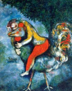 MARC CHAGALL  DER HAHN // The rooster // 1929 Madrid