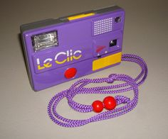 Vintage 1980s Le Clic Camera Purple by purevintageclothing on Etsy, $38.00