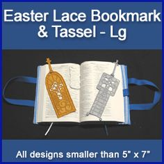 A Easter Bookmark and Tassel (Lace) Design Pack - Lg design (X3002) from www.Emblibrary.com