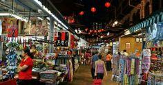 Khu phố Tàu Chinatown ở Singapore về đêm.